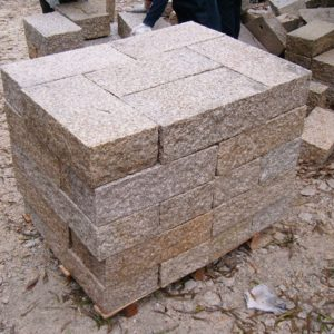 G682 Yellow Granite Exterior Wall Stone-3