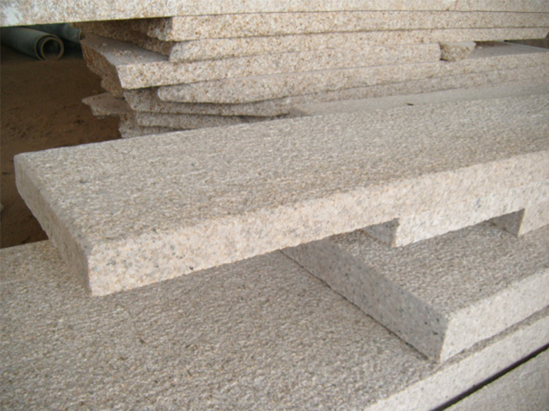G682 Yellow Granite Flamed Finish Outdoor Stairs-2