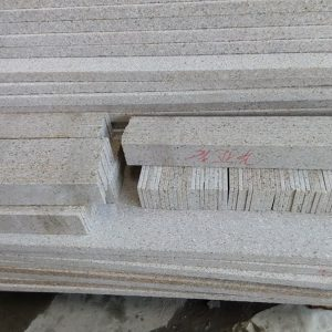 G682 Yellow Granite Flamed Finish Outdoor Stairs-7