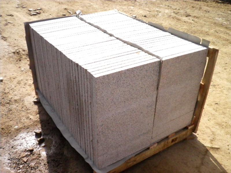 G682 Yellow Granite Flamed Finish Slabs Flooring-1