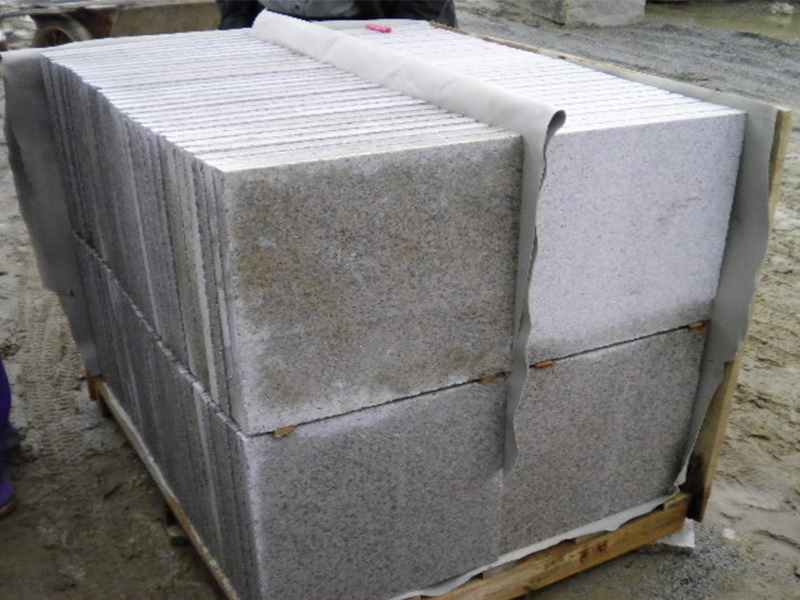 G682 Yellow Granite Flamed Finish Slabs Flooring-3