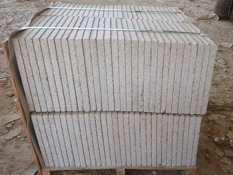 G682 Yellow Granite Flamed Finish Slabs Flooring-5