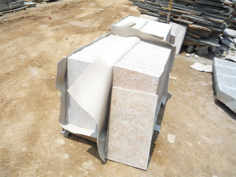 G682 Yellow Granite Flamed Finish Slabs Flooring-8