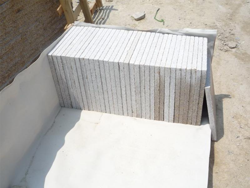 G682 Yellow Granite Flamed Finish Slabs Flooring-9