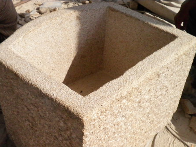 G682 Yellow Granite Stone Trough Customizable-3