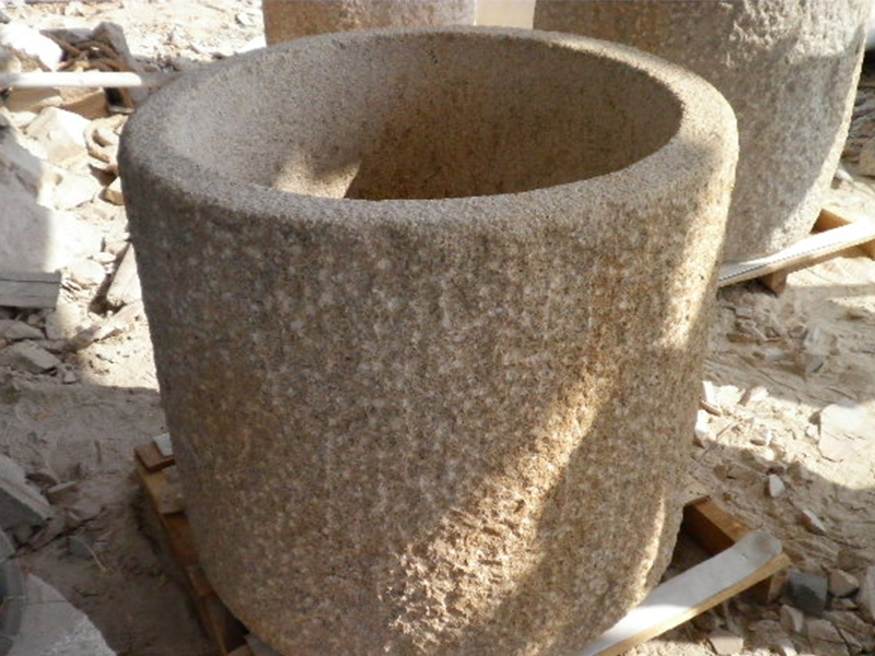 G682 Yellow Granite Stone Trough Customizable-6