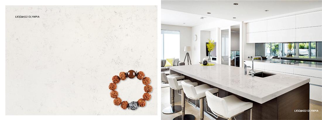 LXSQ6422 OLYMPIA quartz countertop