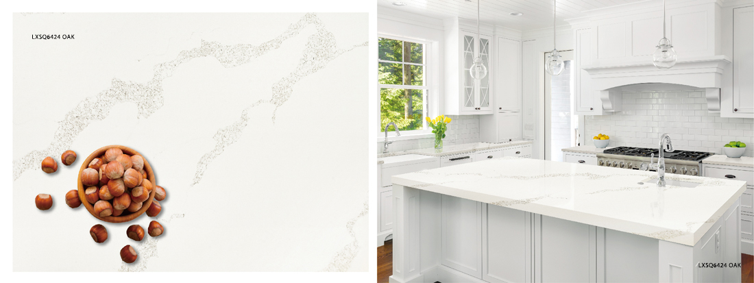 LXSQ6424 OAK quartz countertop