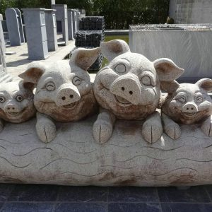 Pig Granite Stone Carving Animal Sculpture For Sale-1