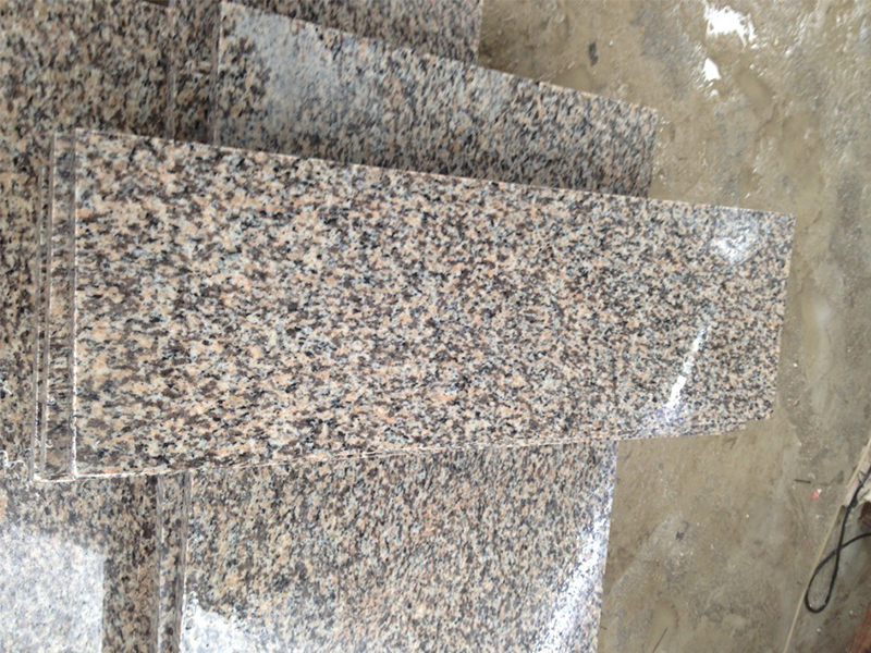 Tiger Skin Yellow Granite Polishing Finish Stairs-2