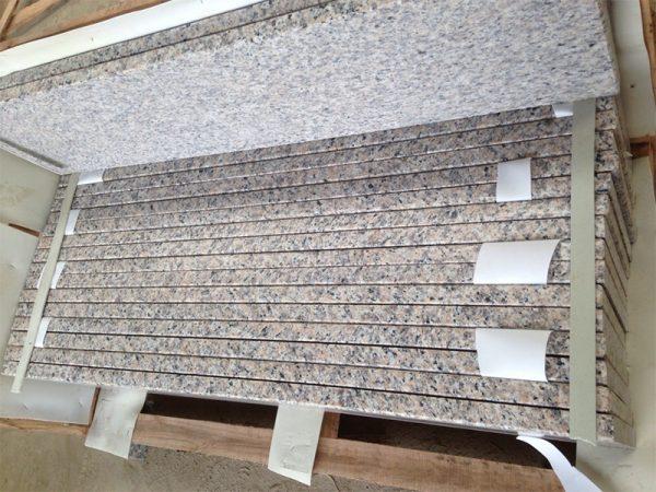 Tiger Skin Yellow Granite Polishing Finish Stairs-6