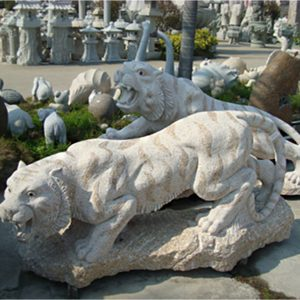 Tiger Stone Carving Customizable Granite Carving